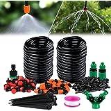Xddias Kit d'irrigation Goutte - 30m Système d'irrigation de Jardin Micro-Bricolage, Kit d'arrosage de Tuyauterie pour Plante de Serre, Plate-Bande, Patio, Gazon