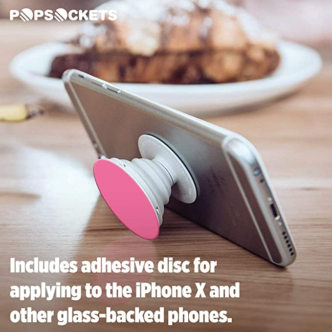 best loved 9f168 00859 PopSockets: Expanding Stand and Grip for Smartphones and Tablets - Pink