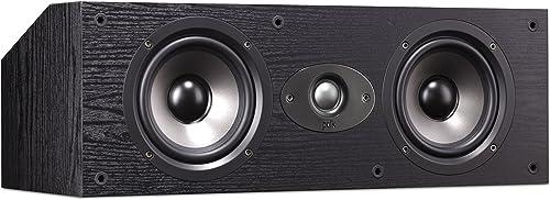Polk Audio TSx 150C Center Channel Speaker – Black