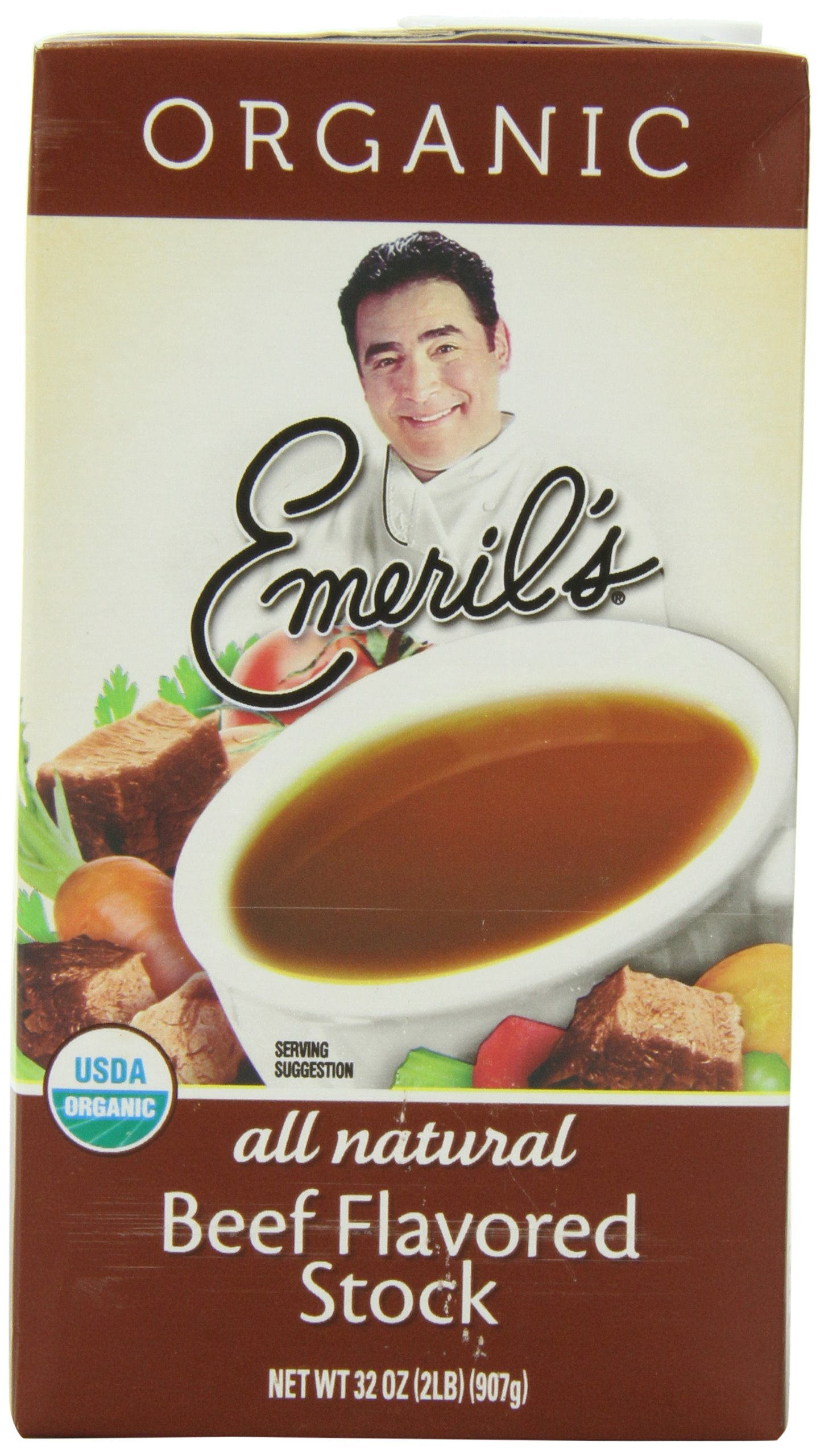 Emeril's Flavored Stock, Organic Beef, 32 Ounce (Pack of 6)
