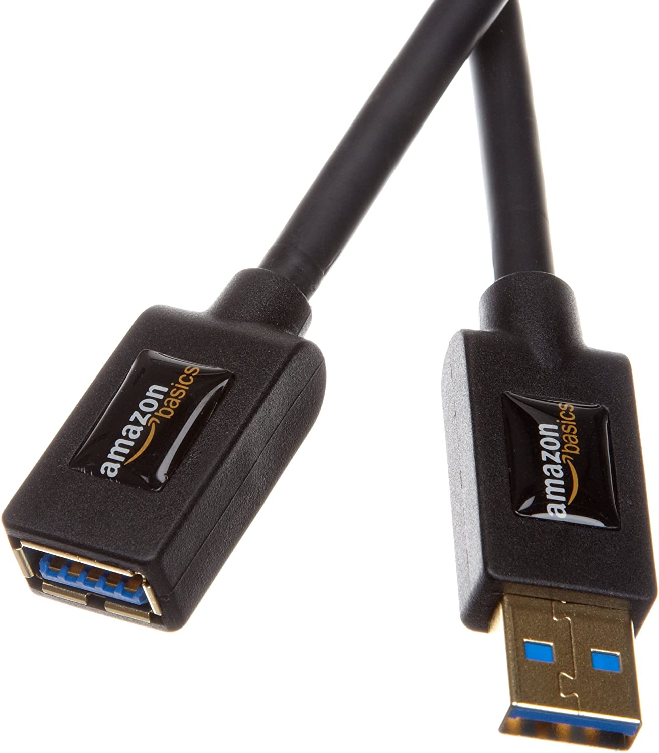 AmazonBasics USB 3.0 Extension Cable - A-Male to A-Female - 3.3 Feet (1 Meter), 10-Pack