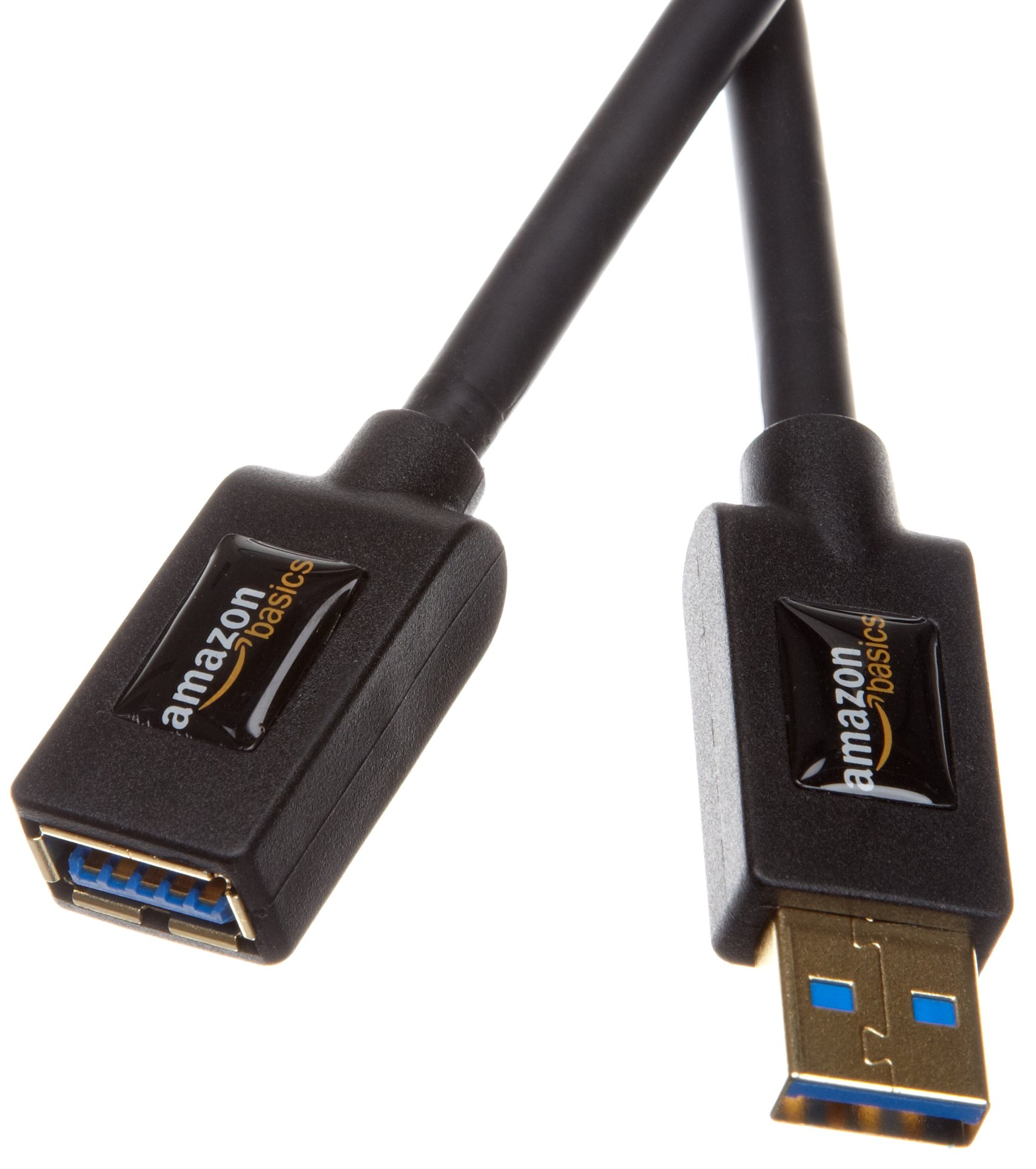 AmazonBasics USB 3.0 Extension Cable - A-Male to A-Female - 3.3 Feet (1 Meter),Black product image