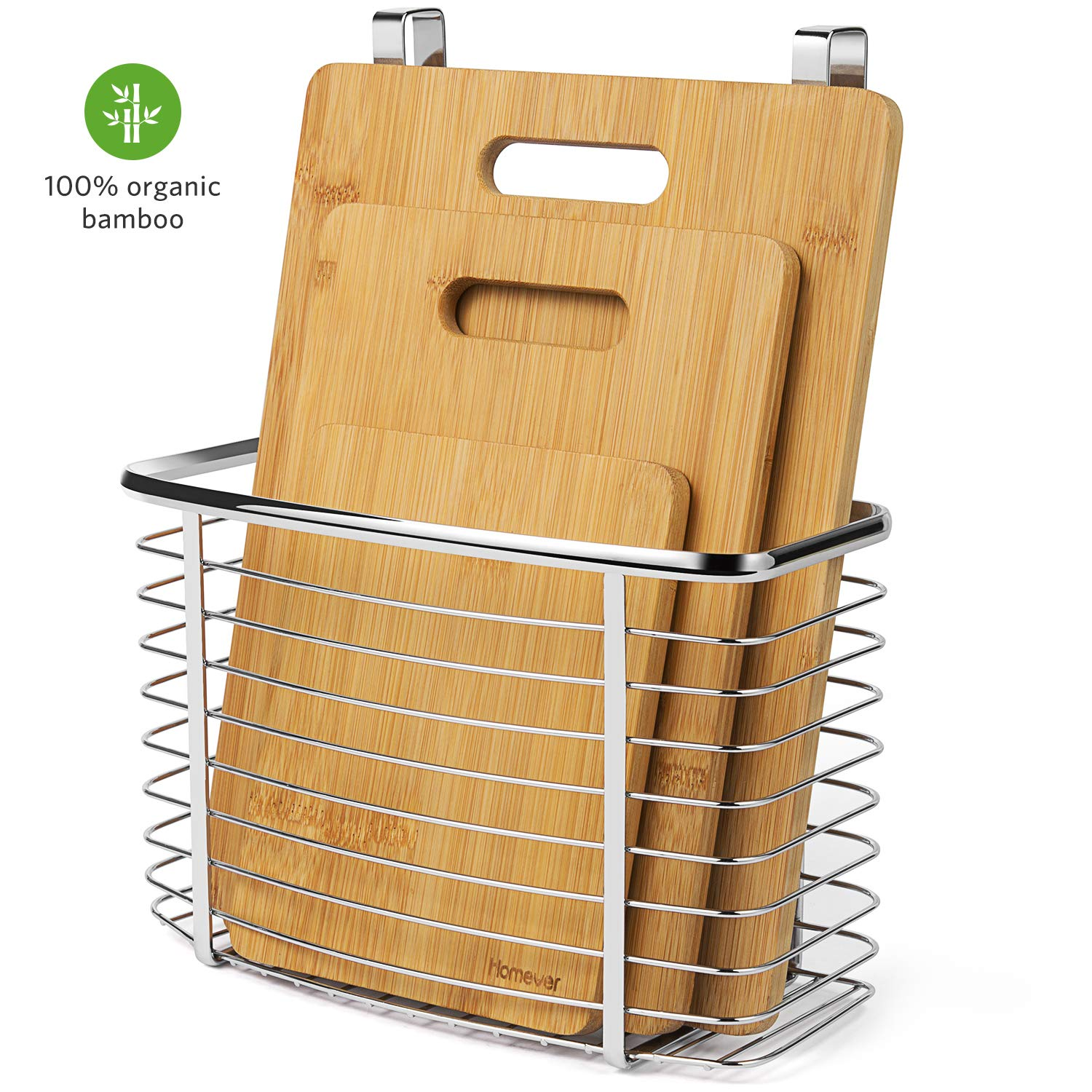 Deals on Homever 3-Pc Bamboo Cutting Board Set PLUS Hanging Basket