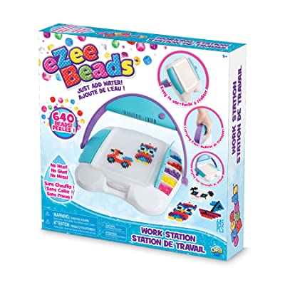 "The Orb Factory eZeeBeads Working Station Arts & Crafts, White/Blue/Purple, 13"" x 2.65"" x 13"": Toys & Games"