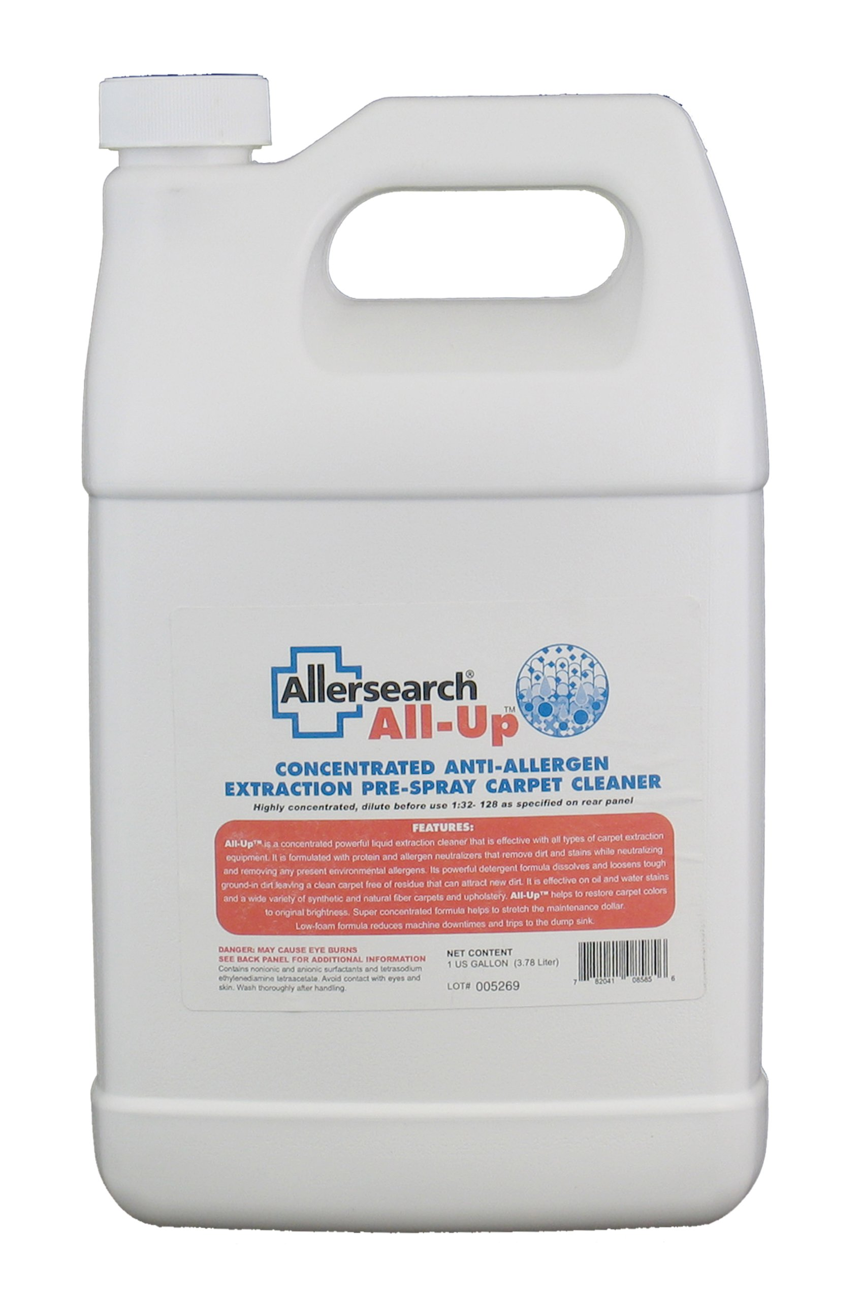 All-Up Concentrated Anti-Allergen Carpet Spot Spray 1 Gallon (128 Oz.) by Allersearch