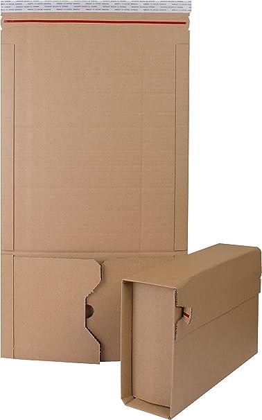 Estuche manila para libros de cartón ondulado x 10 (147x125): Amazon.es: Oficina y papelería