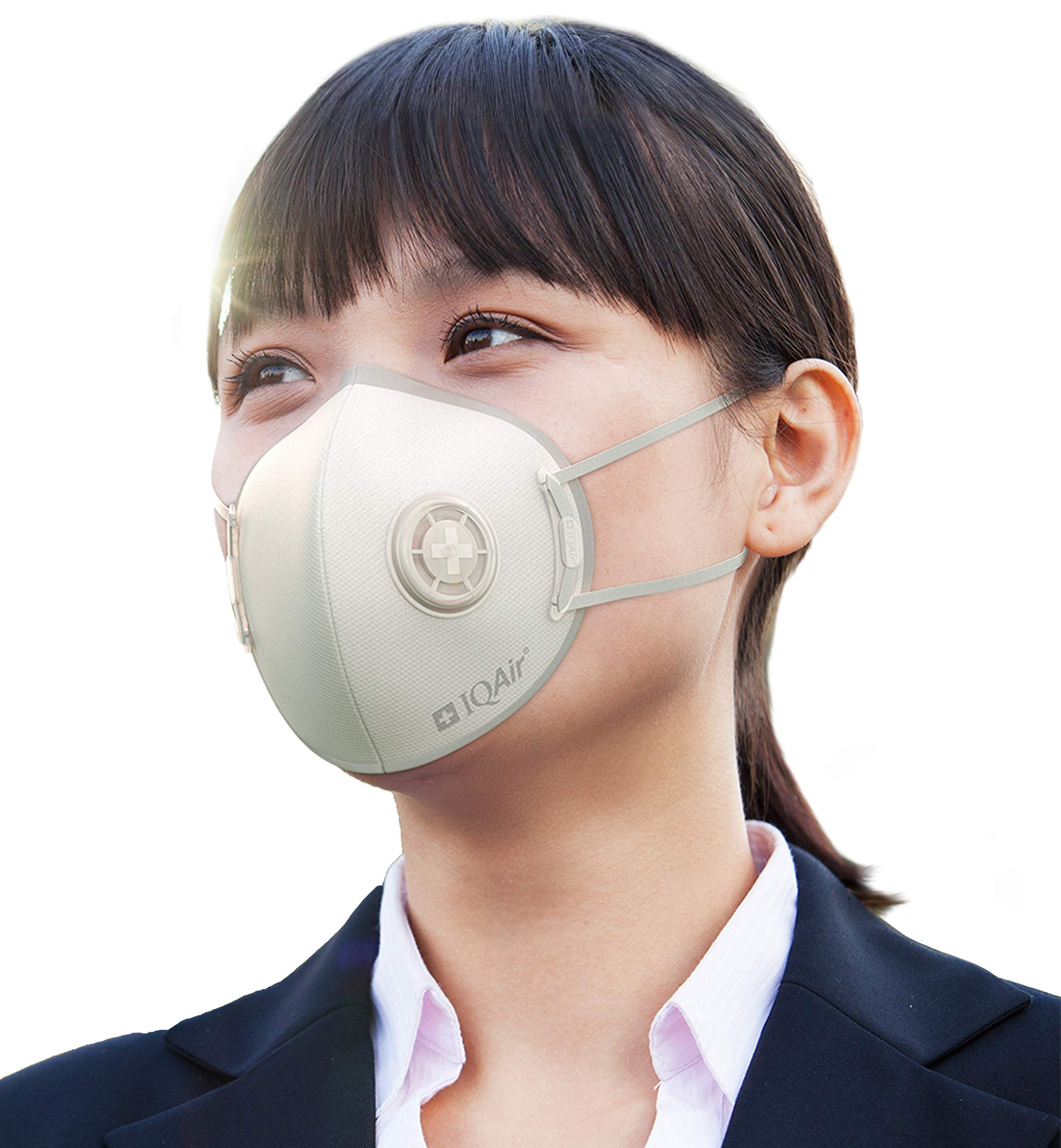 IQAir [Mask] Respirator for Adult with Medical-Grade HyperHEPA Material, KN95 certified, Anti Pollution PM2.5, Includes Breathing Valve - 10 Pack, Large
