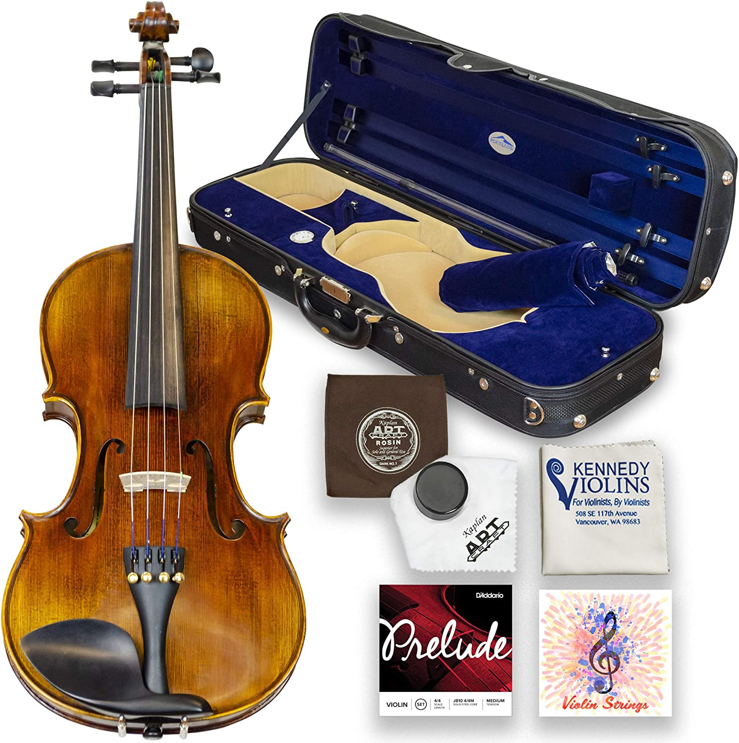 Louis Carpini G2 Violin Outfit 4/4 Full Size - Carrying Case