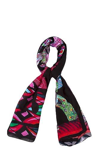 Desigual - PAU_RECTANGLE  DESIGUAL, Sciarpa da donna, multicolore (mehrfarbig  (musgo 4000)), Taglia...