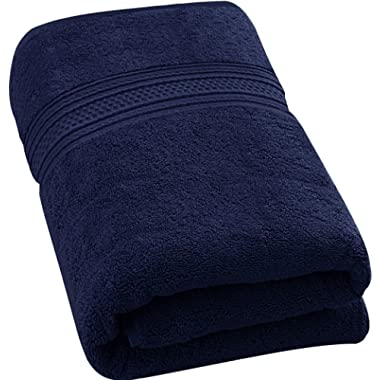 Utopia Towels 700 GSM Premium Cotton Extra Large Bath Towel (35 X 70 Inches) Soft Luxury Bath Sheet, Navy Blue