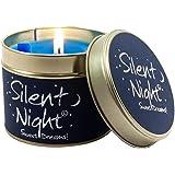 Lily Flame Silent Night Tin, Blue, l x 7.7cm w x 6.6cm h
