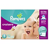 Amazon Price History for:Pampers Cruisers Diapers, Size 5, 152 Count