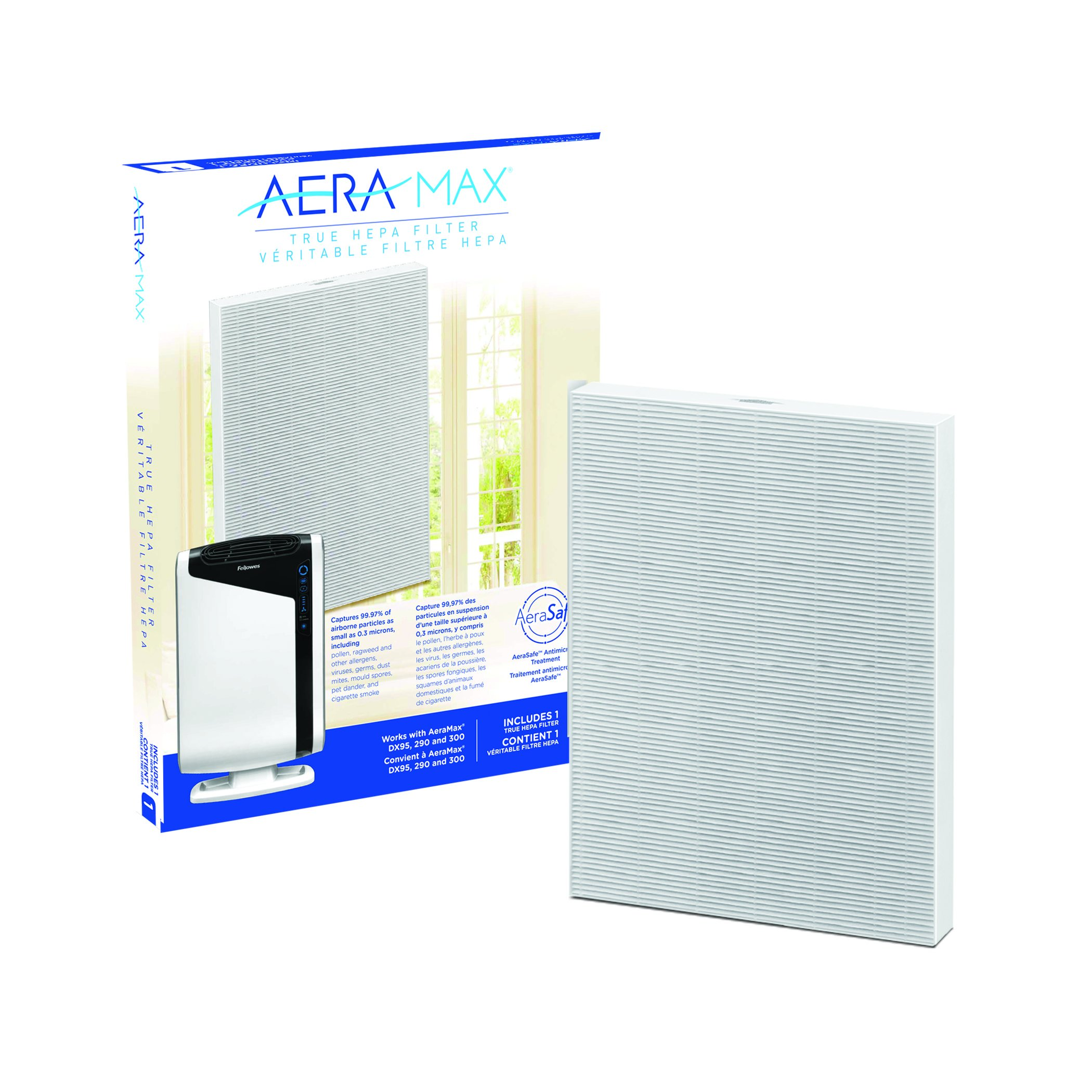 AeraMax 300 Air Purifier True HEPA Authentic Replacement Filter with AeraSafe Antimicrobial Treatment (9287201)