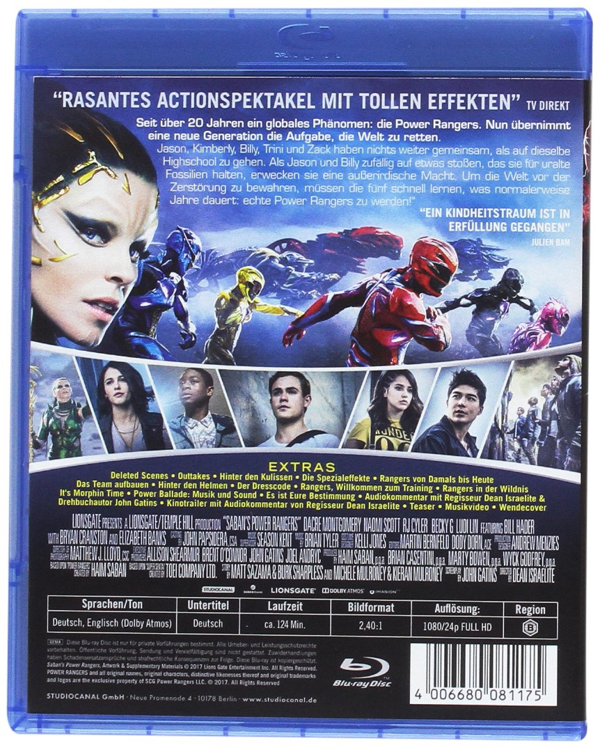 Power Rangers [Blu-ray]: Amazon.es: Naomi Scott, Dacre ...