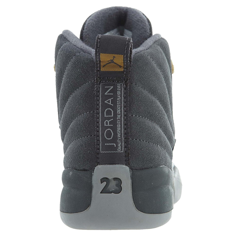 BP 2 M US Jordan 12 Retro Little Kids Shoes Dark Grey//Dark Grey//Wolf Grey 151186-005