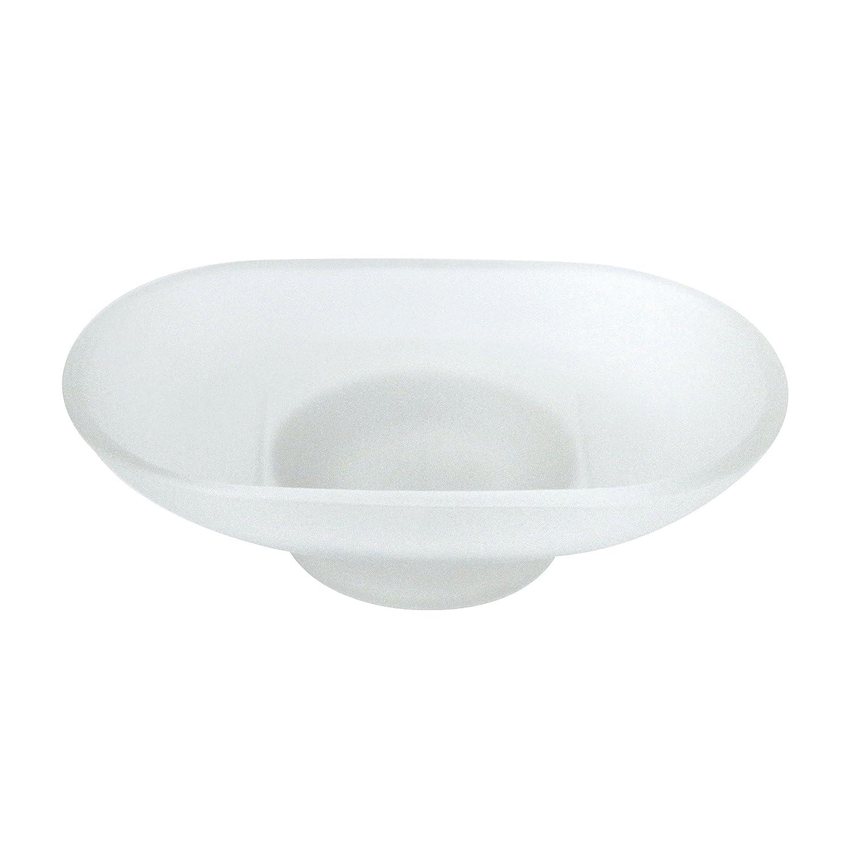 Modona Milchglas Ersatz Seifenschale – oval B01I6RZXN2 Seifenschalen