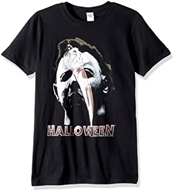 d7c4df9c American Classics Halloween The Movie Mask Adult Short Sleeve T-Shirt,  Black Small