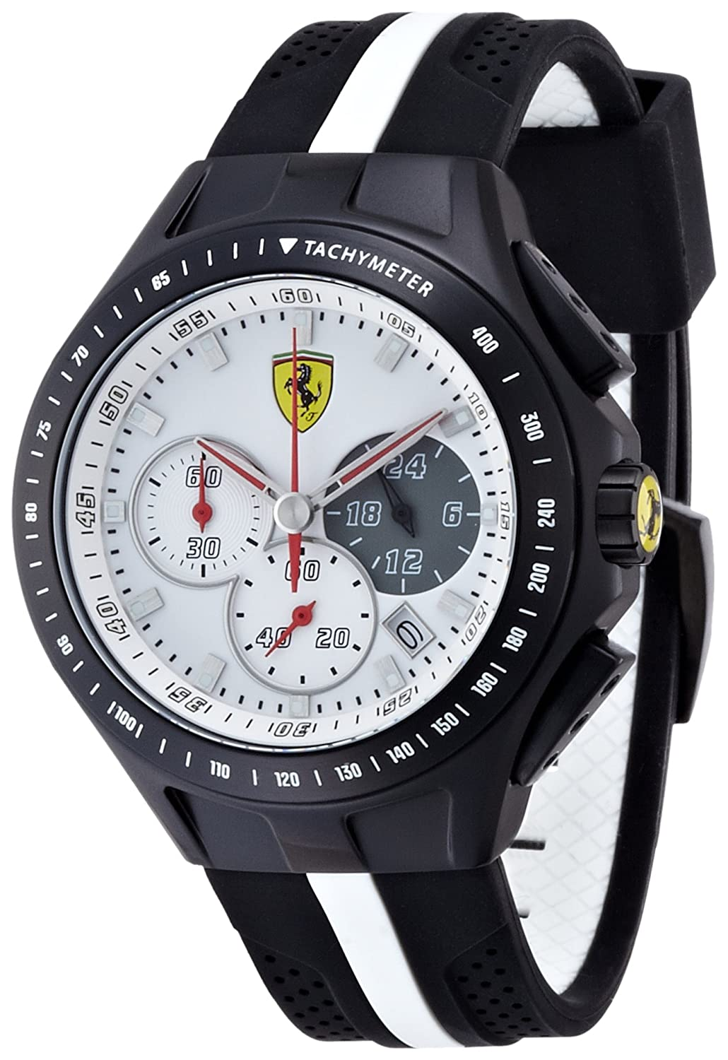 ferrari analog men display quartz watch pin d black watches s