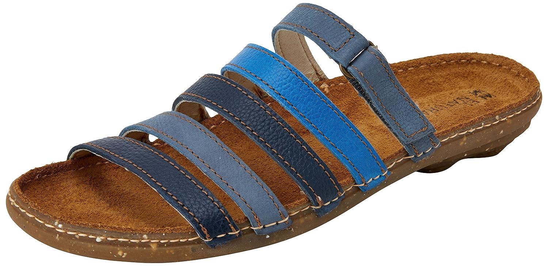 El Naturalista Women's N327 Multi Leather Blue Mixed/Torcal Flat Sandal B075LFWBHM 40 Medium EU (9 US)|Blue Mixed