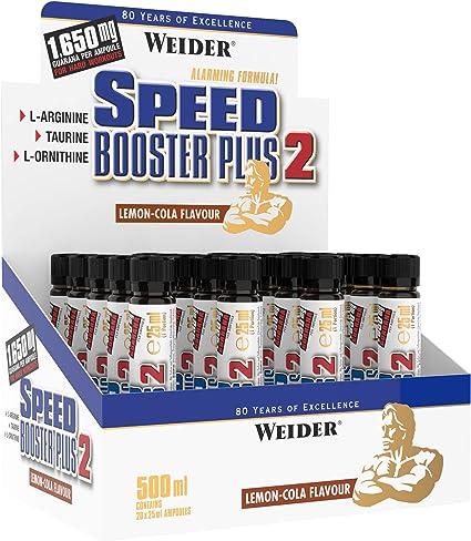 Weider Speed Booster Plus, Fórmula Energizante, Sabor Limón-Cola - 20 Cápsulas