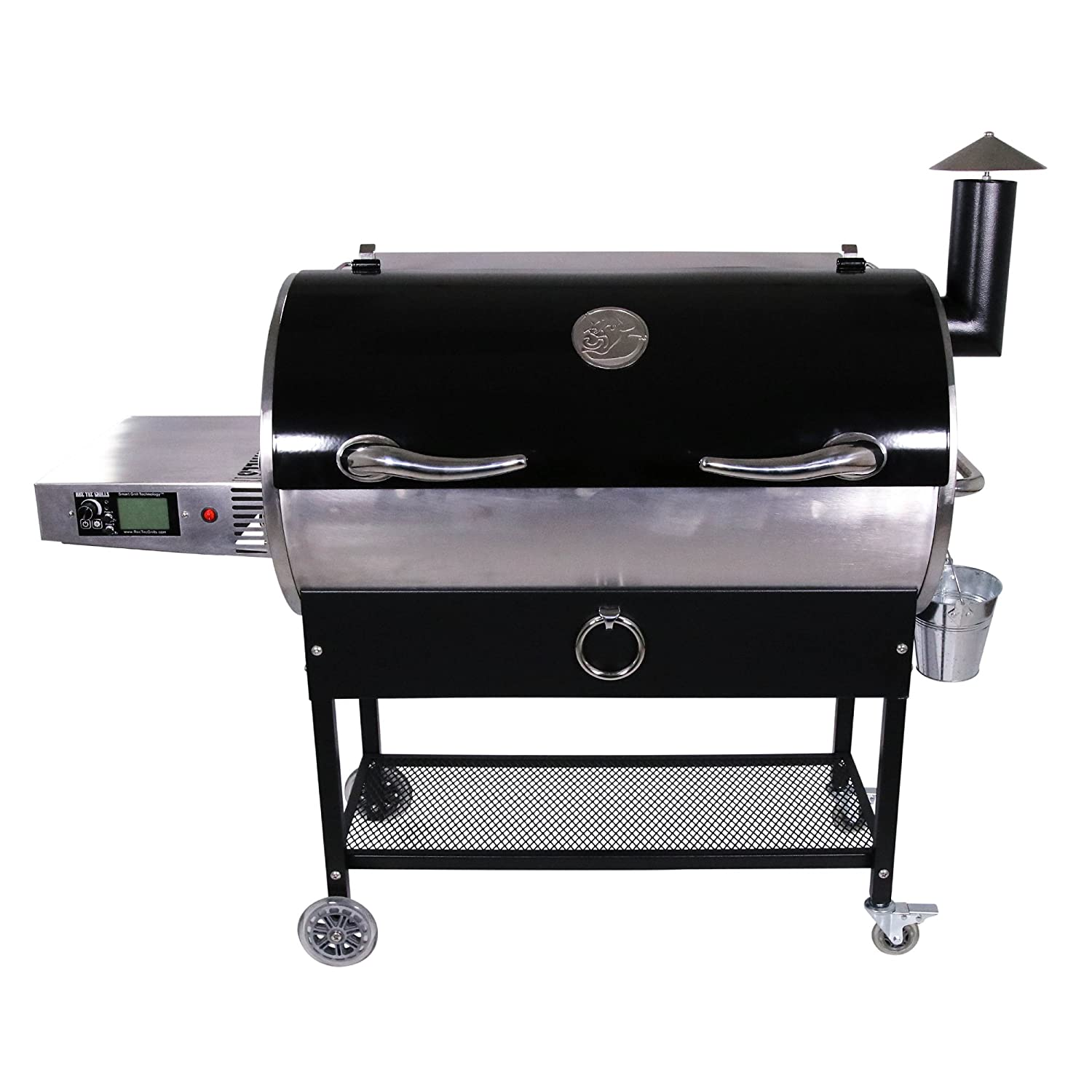 REC TEC Grills Bull RT-700 Bundle WiFi Enabled Portable Wood Pellet Grill Built in Meat Probes Stainless Steel 40lb Hopper 6 Year Warranty Hotflash Ceramic Ignition System