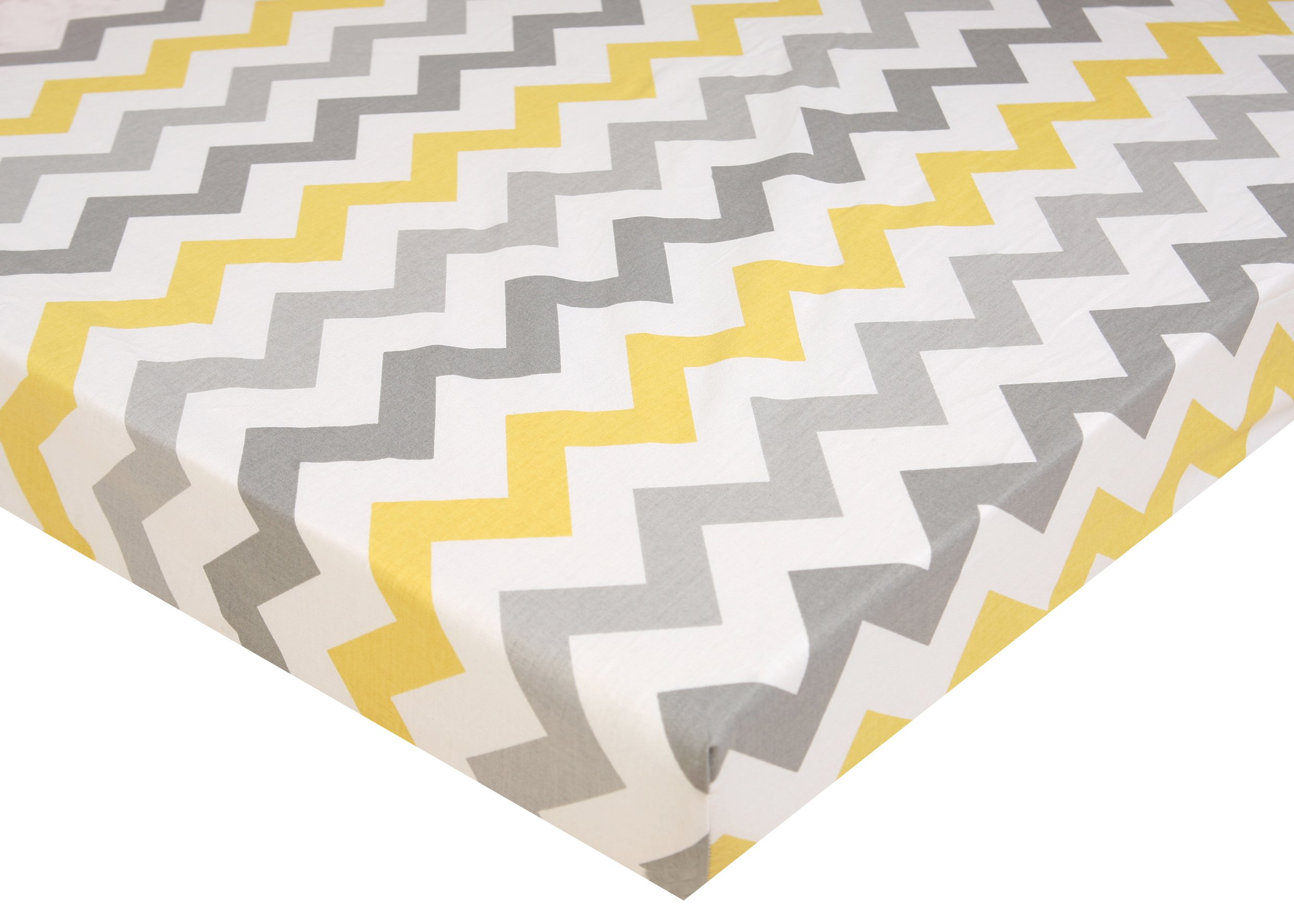 Pack N Play Playard Sheet - 2 Pack 100% Premium Cotton, Fits Perfectly Graco Pack N Play, Dream On Me Playard Mattress 3'' Or Any Standard Mini Crib Mattress, Happy Dinos and Chevron by Luxuriously Soft-NEW YORK (Image #4)