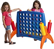 ECR4Kids Junior 4-to-Score Giant Game Set, Backyard Games for Kids, Junior Connect-All-4 Game Set, Indoor or Outdoor Game, A