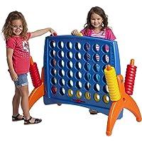 ECR4Kids juego gigante de 4 en punto, gran tamaño 4 en una fila diversión para niños, adultos y familias – Estructura de juego para interiores y exteriores – 4 pies de altura, Primarios, Junior