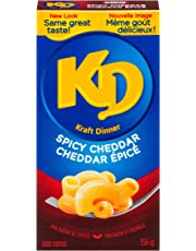 Kraft Dinner Spicy Cheddar Macaroni & Cheese, 156g (Pack of 12)