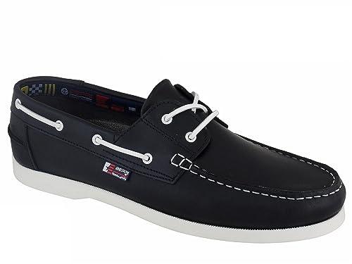 Beppi Portugués en piel Naúticos / Mocasines para hombre Azul Marino EU 47: Amazon.es: Zapatos y complementos