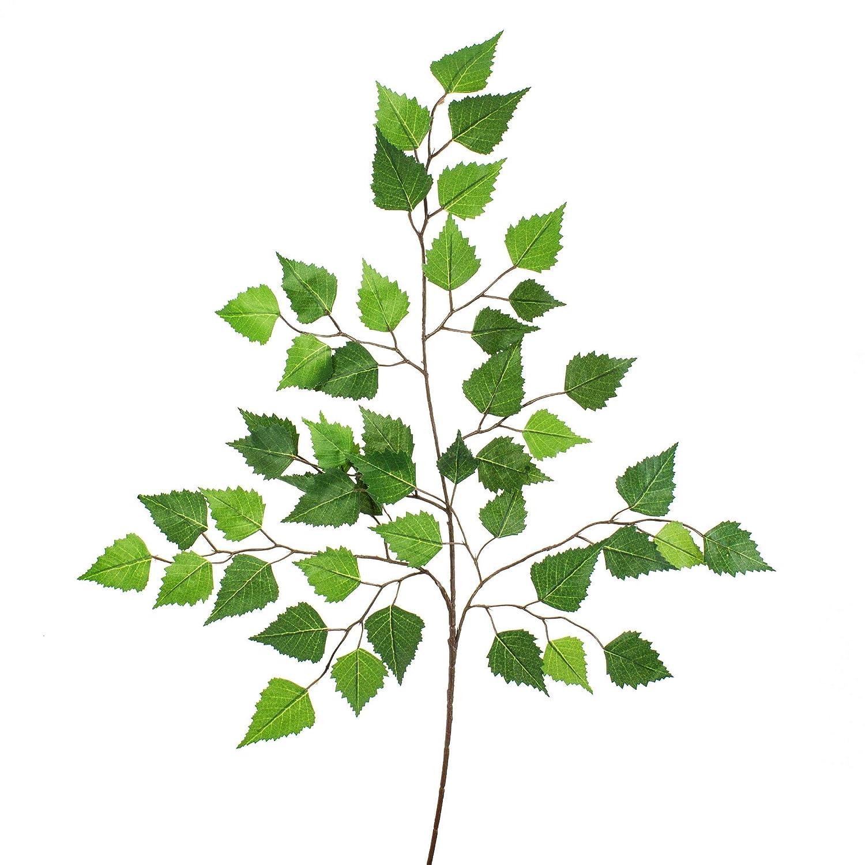 48 Bl/ätter artplants.de K/ünstlicher Birkenzweig Dekozweig 70cm