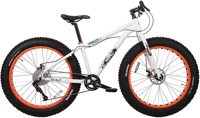 Framed Minnesota 1.2 White/Orange Fat Bike Sz 15in best fat tire bikes