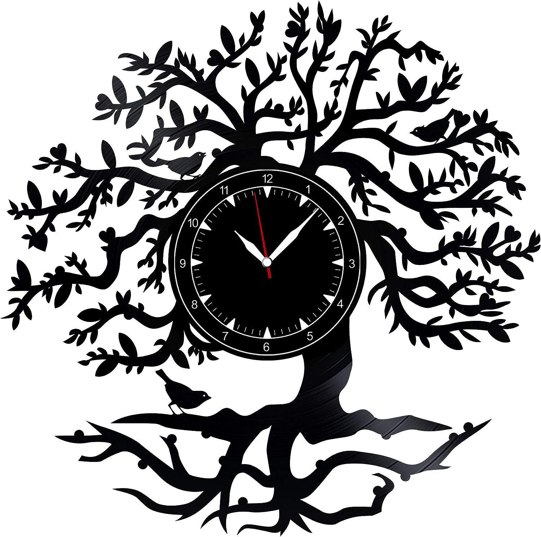 "Tree Vinyl Record Clock 12"" - Wall Clock Tree - Best Gift for Tree Lovers - Original Wall Home Decoration"