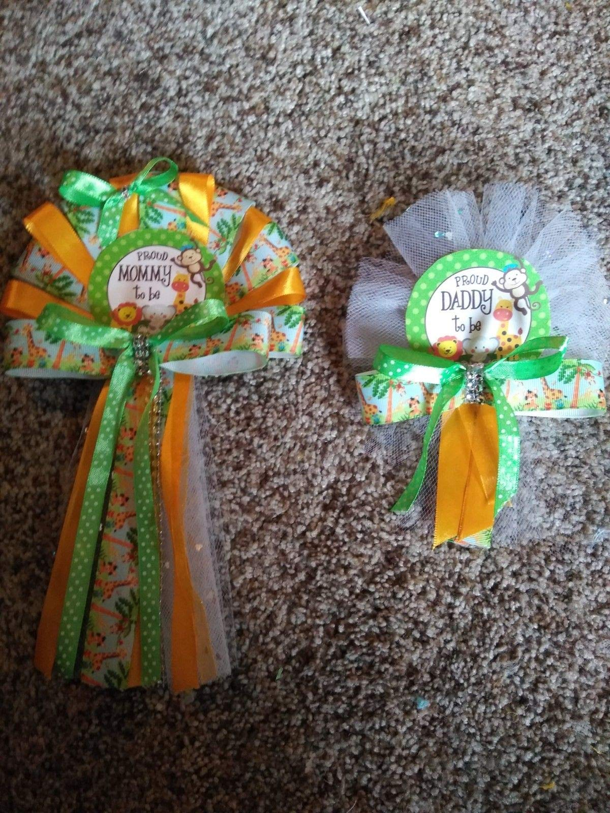 Baby Shower Mommy and Daddy to Be Corsage