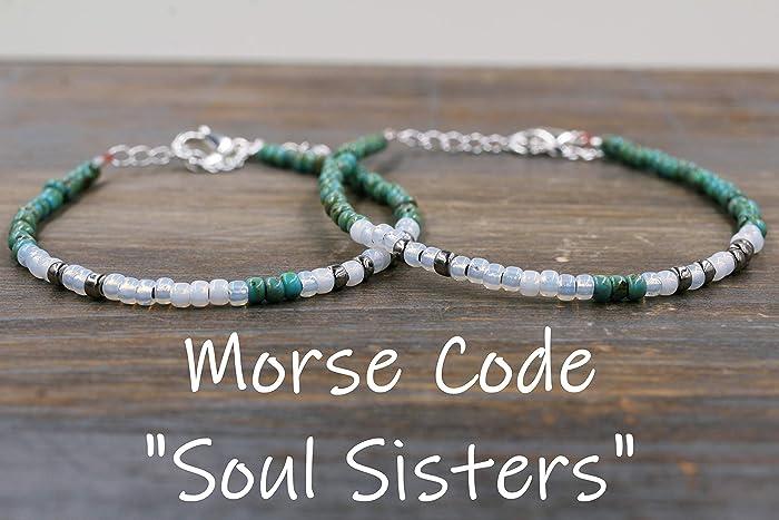 5362132400f7e Amazon.com: Soul Sister Bracelets, Matching Friendship Bracelets ...