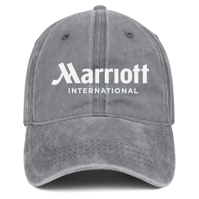 JJNMFDBFO Cap Cowboy Hat Unisex Designer Basketball Marriott-International-Hotel-Logo-Symbol Denim Hats