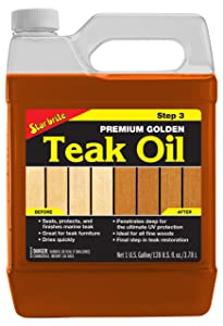 Star Brite Premium Golden Teak Oil - Sealer, Preserver, & Finish for Outdoor Teak & Other Fine Woods