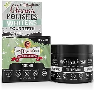 product image for My Magic Mud - Whitening Tooth Powder, Polishing, Brightening, Charcoal, 1.06 oz. (150 uses (Original)