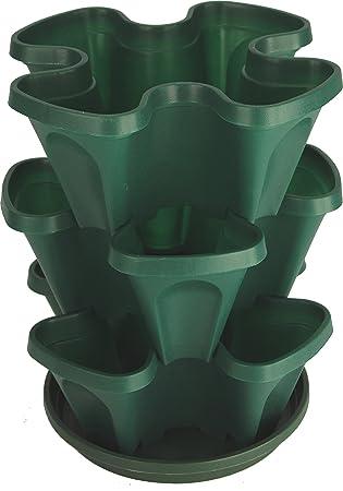 Amazon Com Mr Stacky Self Watering 3 Tier Stackable Garden