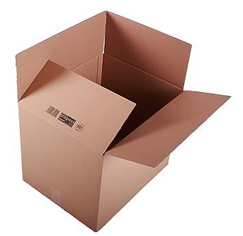 progressCARGO PC K20.08 - Caja de embalaje (cartón ondulado, 2 ondulaciones, 500 x 400 x 400 mm, 10 unidades), color marrón: Amazon.es: Oficina y papelería