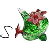 Best Home Products Hummingbird Feeder with Green Bouquet Cap with Red Flowers, 16 Ounce