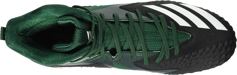 adidas Mens Freak X Carbon Mid Football Shoe 7 M US core Black//White//Dark Green