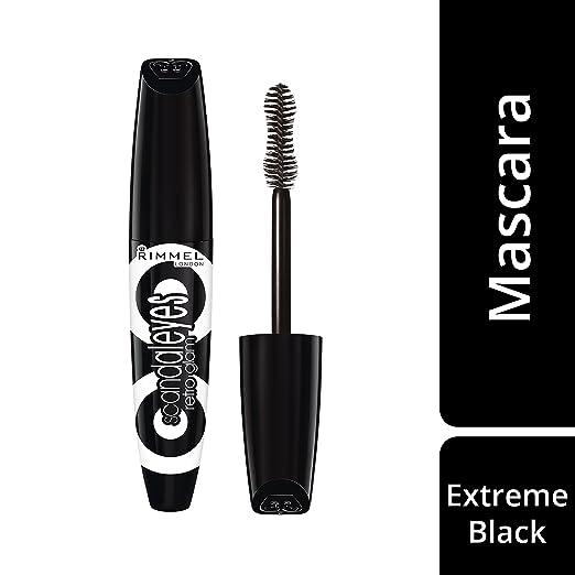 ab36b12b5b3 RIMMEL LONDON Scandaleyes Retro Glam Mascara - Extreme Black: Amazon.co.uk:  Health & Personal Care