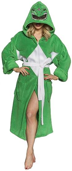 Power Rangers Green Robe Loungewear, One Size