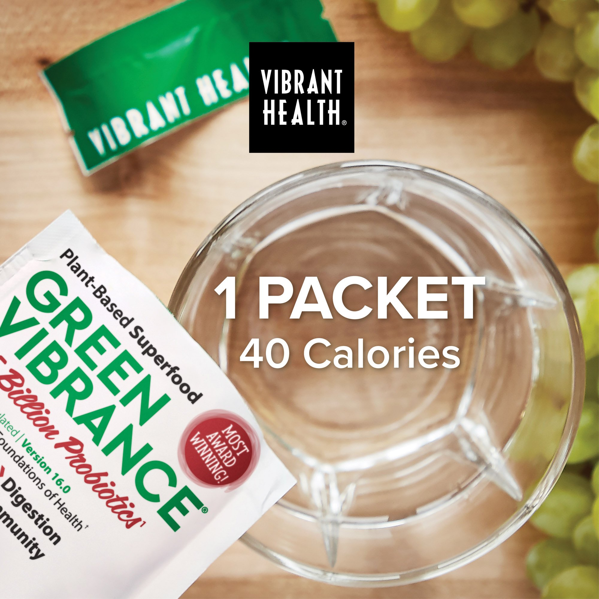 Vibrant Health - Green Vibrance, Plant-based Daily Superfood + Protein and Antioxidants, 15 Packets by Vibrant Health (Image #5)