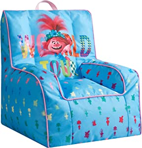 DreamWorks Trolls World Tour Kids Nylon Bean Bag Chair with Piping & Top Carry Handle