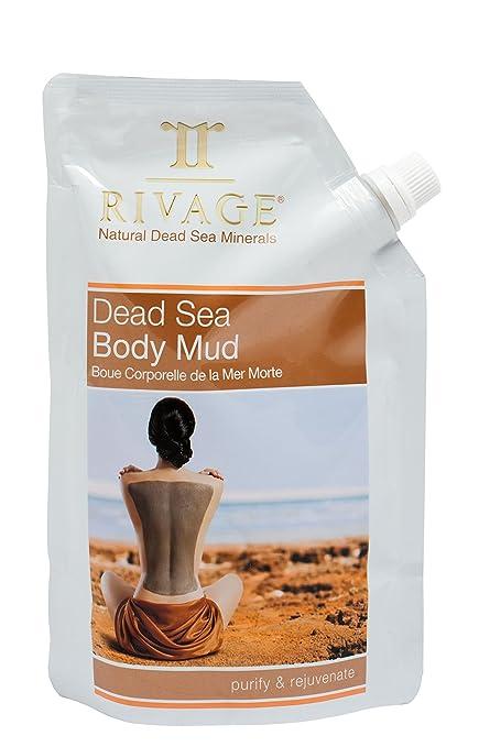 Rivage mar muerto cuerpo máscara de barro