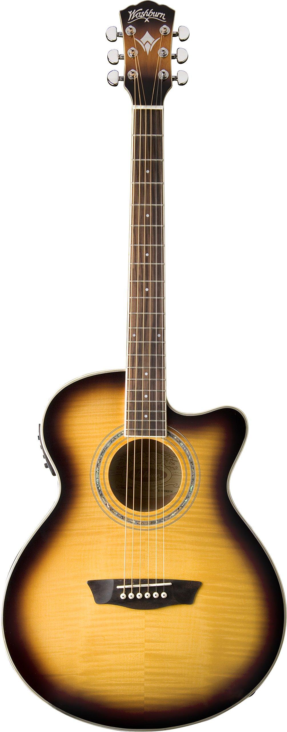 Washburn Festival Series EA15ATB Acoustic Guitar by Washburn