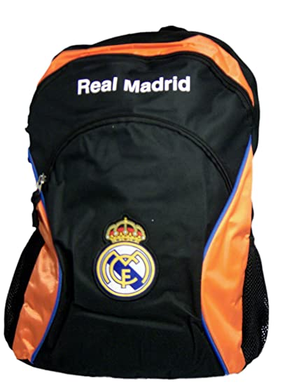 Amazon.com : Real Madrid Large Backpack Spain Soccer Embroidered Logo Bag (Orange) : Soccer Ball Bags : Sports & Outdoors