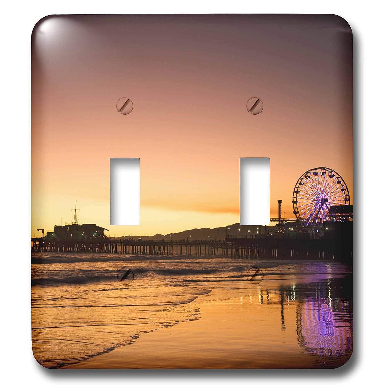 3dRose lsp/_88257/_2 California Santa Monica Pier US05 BJA0432 Jaynes Gallery Double Toggle Switch
